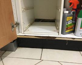 Moisture-kitchen-undersink